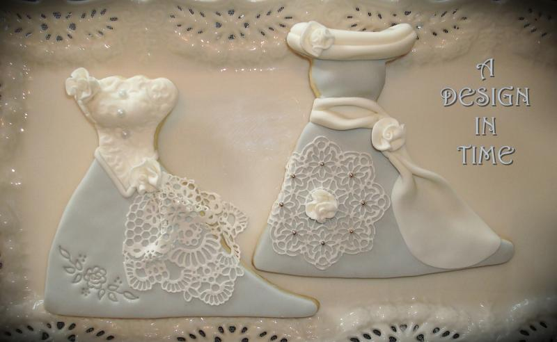 A DESIGN IN TIME - VINTAGE BRIDAL fashion COOKIES